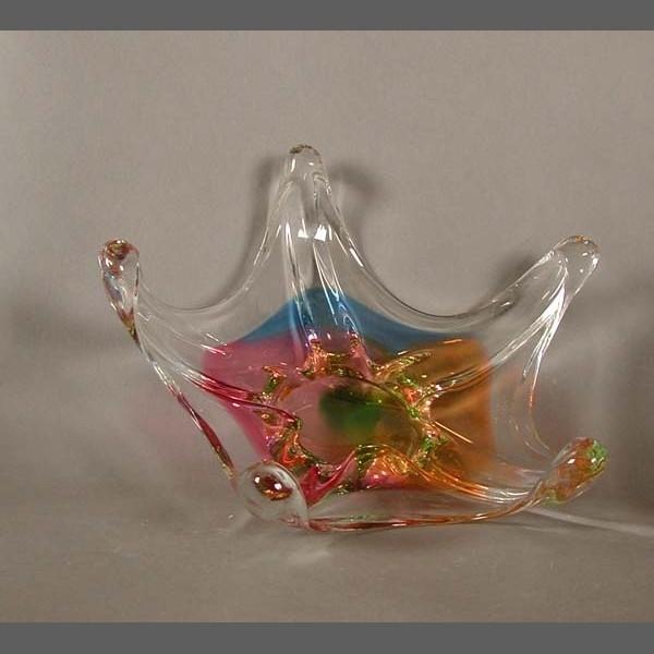 Bunte Murano Glasschale