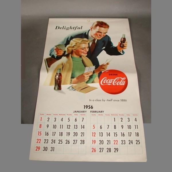 Coca Cola Kalender 1956.