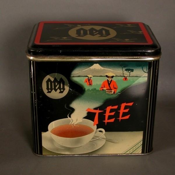 """Blechdose """"Tee"""" 1950."""