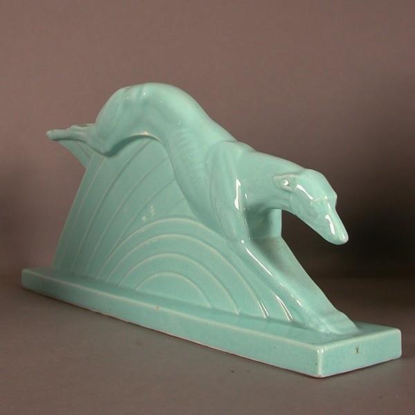 Art Deco figure. Greyhound....