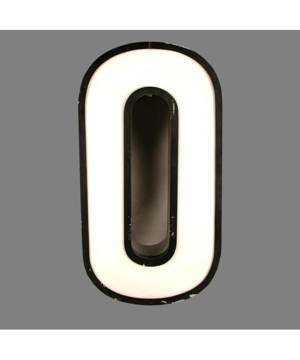 Big vintage sign cipher - 0 - for decoration. 1970 - 1975.