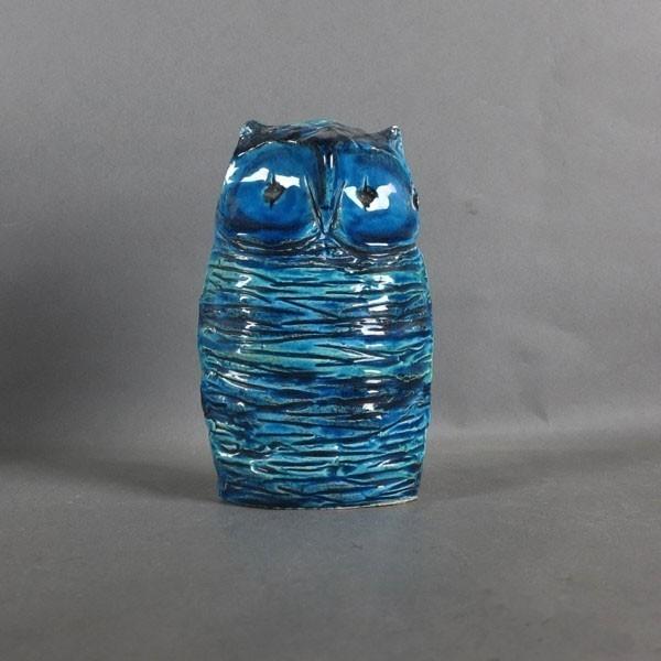 Ceramic owl. Rimini Blu....
