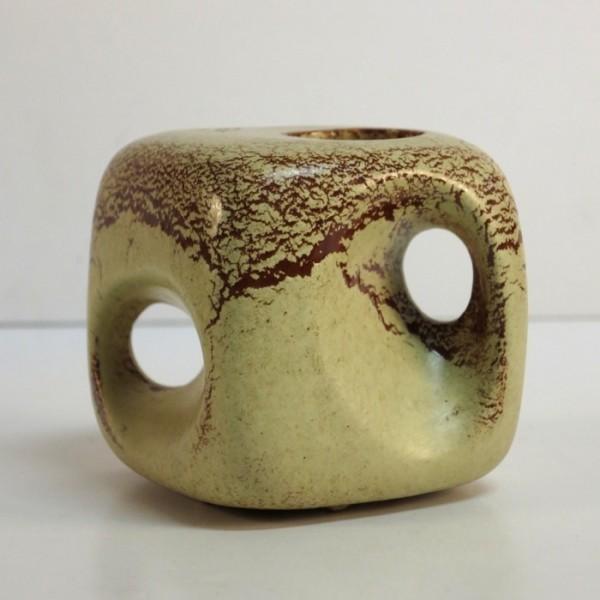 Ceramic vase in organic...