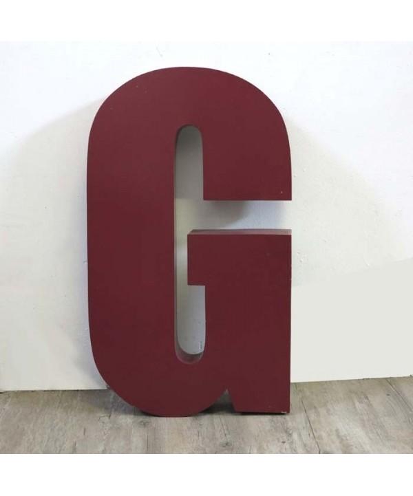 Vintage sign letter - G - for decoration. 1970 - 1980.