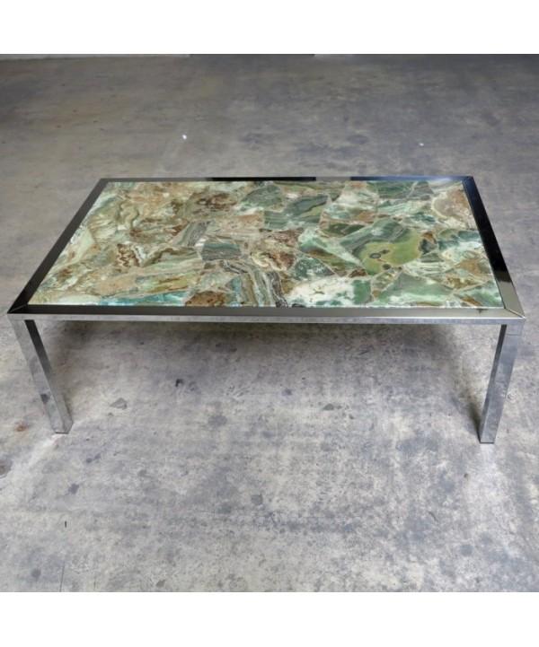 20th Century onyx table 1960 - 1965.