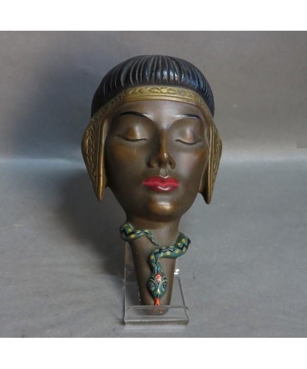P.K. Paul Kinsler. Ceramic wallmask Cleopatra. 1950 - 1955.