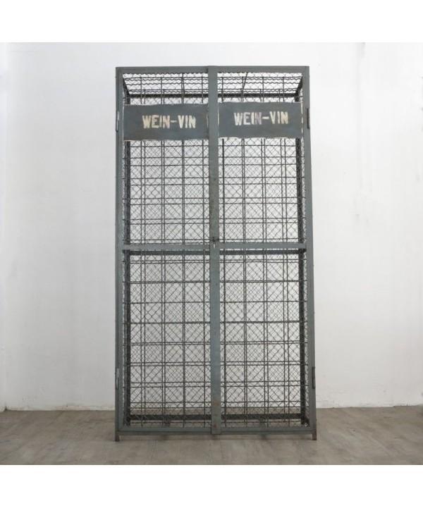 Metal cabinet for wine bottles. Industrial Design 1950 - 1960