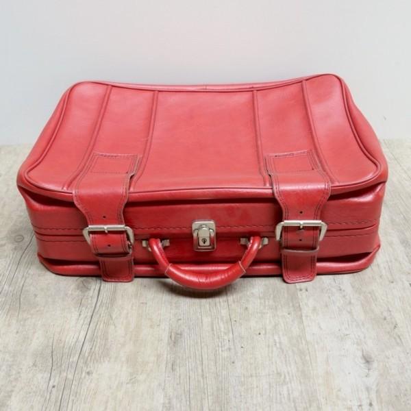 Roter Vintage Koffer 1970 -...