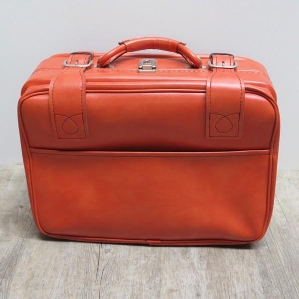 Orangener Vintage Koffer...