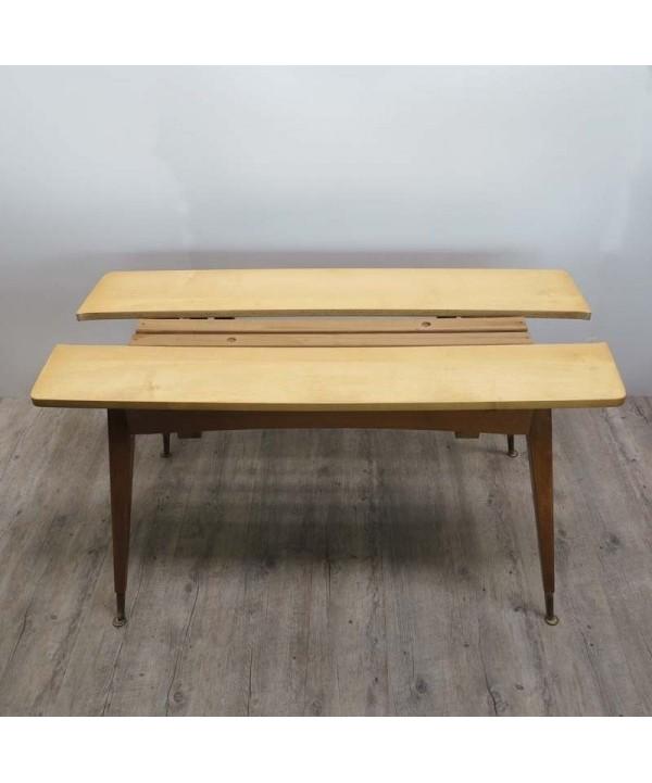 Ausziehbarer Vintage Holztisch  1950 - 1955.