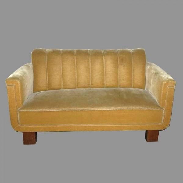 Art Deco Sofa mit zwei...