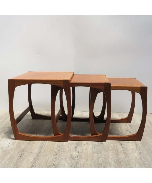 Drei Design Tische aus Teak. Dänemark 1950 - 1959