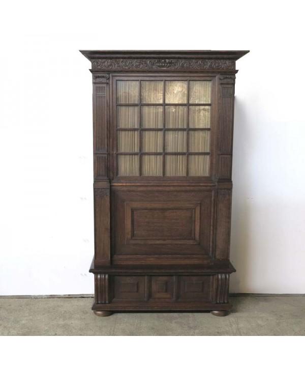 Wilhelminian carved bookcase 1880