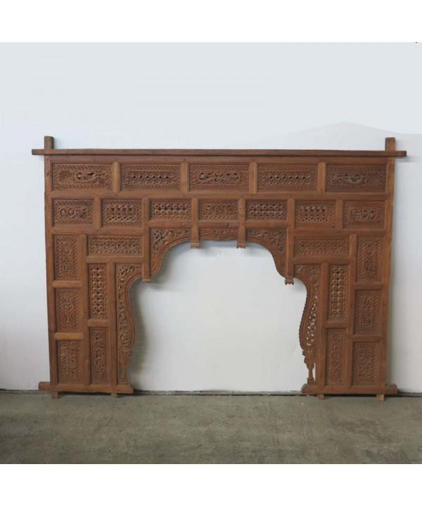 Grosses geschnitztes Vintage Bett Kopfteil 200 x 170 cm.
