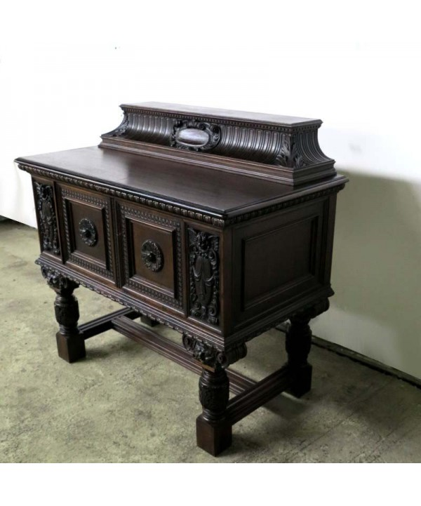 Antique sideboard with many carved details. 1860 - 1880