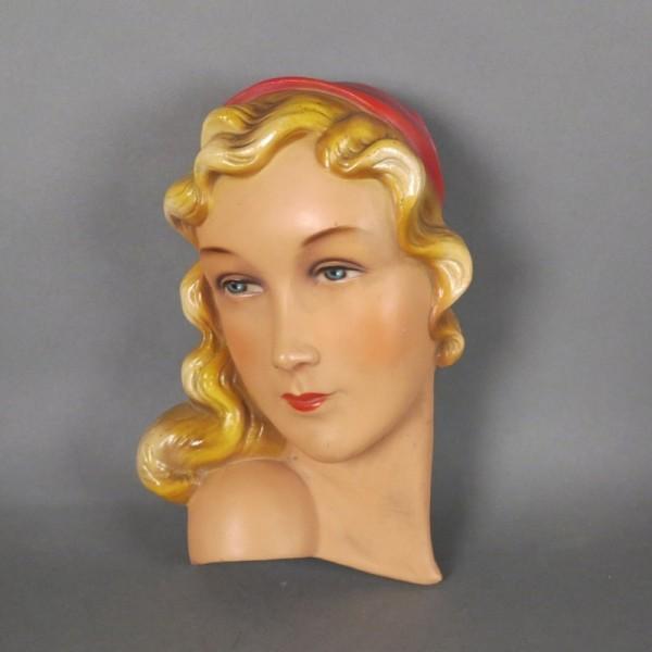 Vintage Keramik Wandmaske....