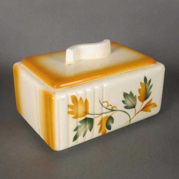 Art Deco caja con tapa de...