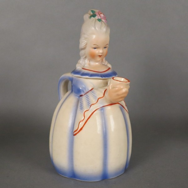 Keramik Biedermeier Frau...