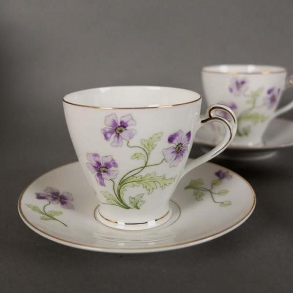 Art Nouveau. Tres tazas de...